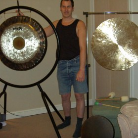 Me and my gongs at home.