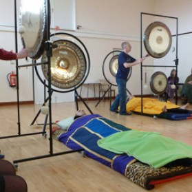During session 2 of my gong  training.