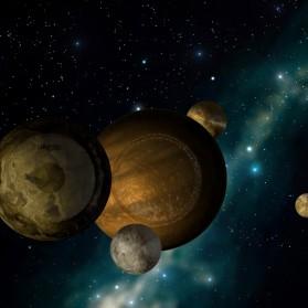 Gongs in the night sky.